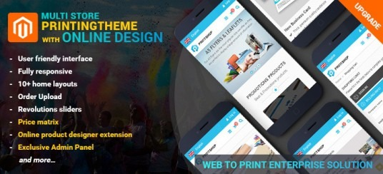 Magento PrintMart Website Theme Integrated Online Design Package