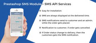 Prestashop SMS Module + SMS API Services