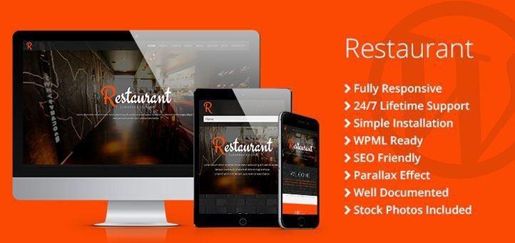 Restaurant Responsive WordPress Theme - TemplateMonster