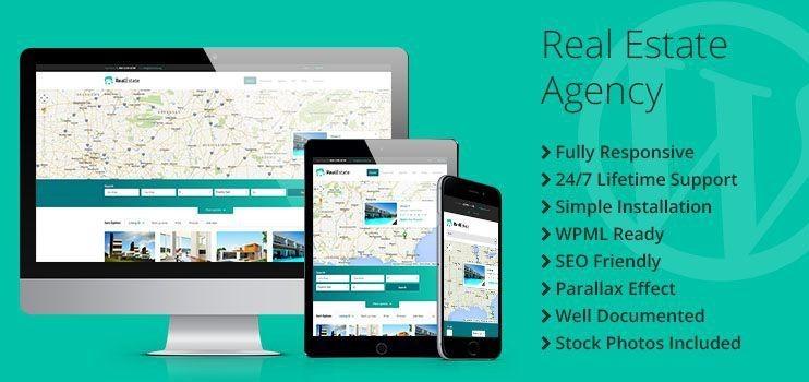Real Estate Agency Responsive WordPress Theme - TemplateMonster