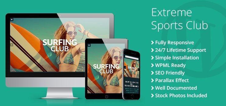 Extreme Sports Club WordPress Theme - TemplateMonster
