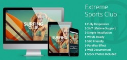 Extreme Sports Club WordPress Theme - TemplateMonster
