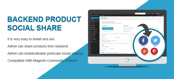 Backend Product Social Share Magento Extension