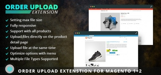 Magento Order Upload Extension