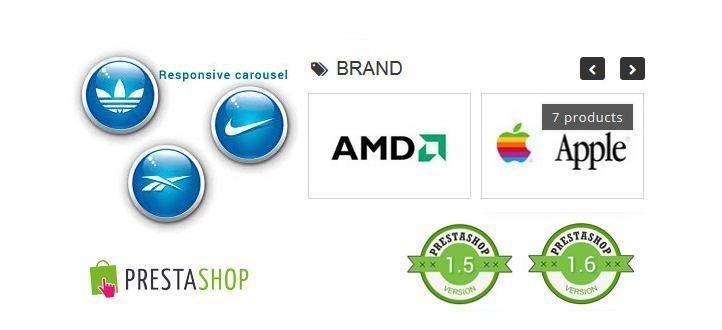 Responsive Brand Logos Carousel for Prestashop
