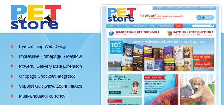 Petmart Virtuemart Template | Pet store theme