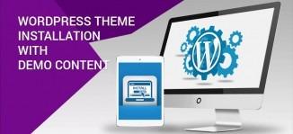 WordPress Theme Installation with Demo Content