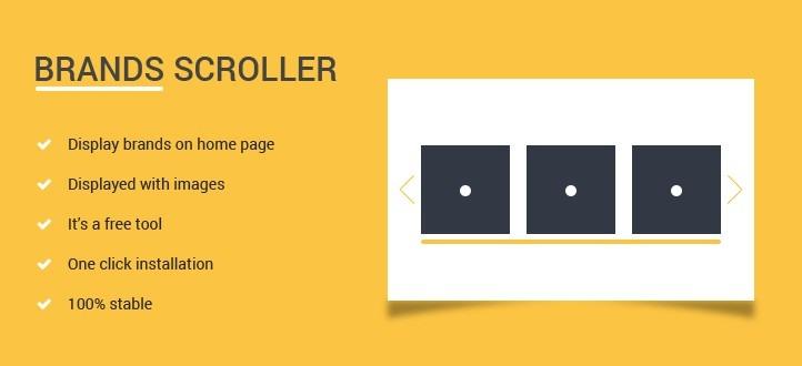 Brands Scroller Prestashop Module