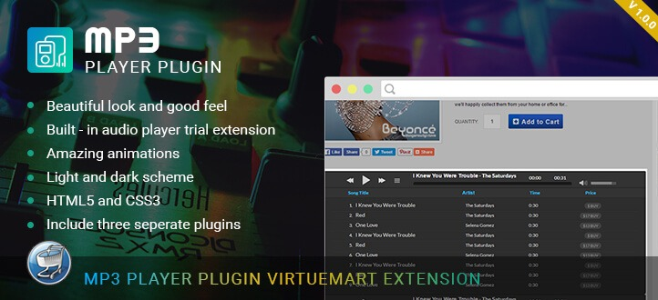 Virtuemart Mp3 Player Plugin