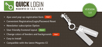 Magento Quick Login Extension