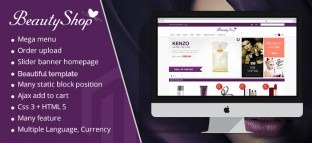 Magento Beauty Shop Theme