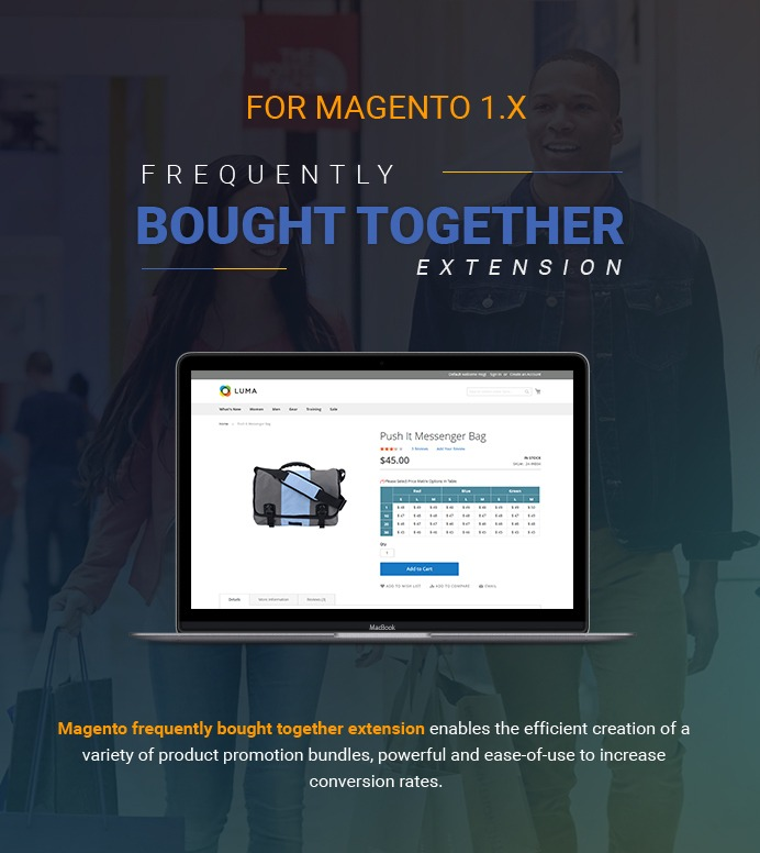 Frequently Bought Together Extension For Magento 1
