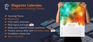 Magento Calendar Responsive Printing Website Theme