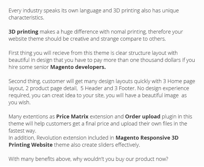 Magento Responsive 3D Printing Website Theme