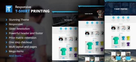 Magento Responsive T-shirt Printing Website Theme