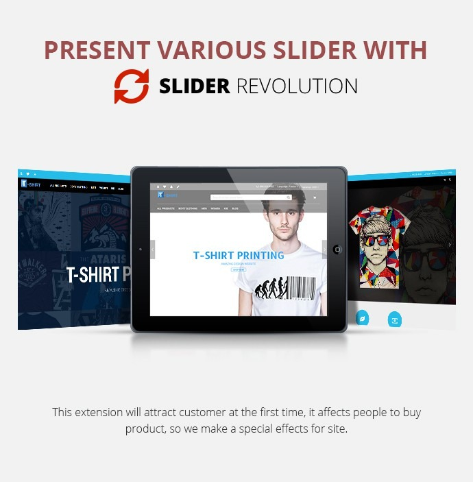 Magento Responsive T-shirt Printing Website Theme