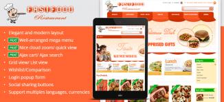 Magento Fast Food Theme