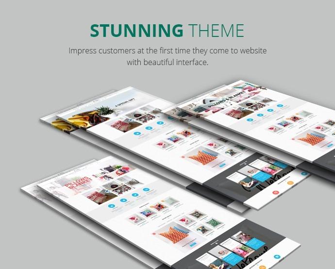 Magento Responsive Pillow & Blanket Printing Website Theme