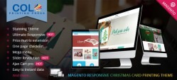 Magento Responsive Christmas Card Printing Website Theme