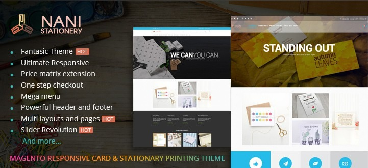 Magento Responsive Stationery Printing Website Theme