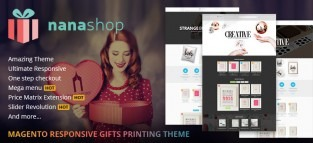 Magento Responsive Gifts Printing Website Theme