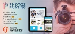 Magento Responsive Photos Printing Website Theme