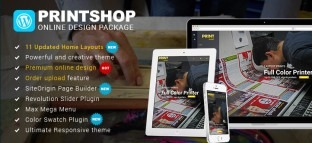 Wordpress Printshop Website Templates with Online Design Packages