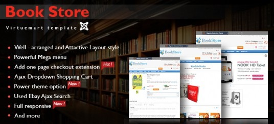 Virtuemart Responsive Book Store Template